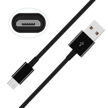 Wholesale Price Original Quality Black 1A 2M Micro USB Data Cable for Samsung Redmi Android Cellphone