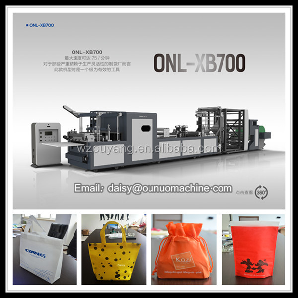 Hot sale! HIGH QUALITY nonwoven box bag making machine model 700