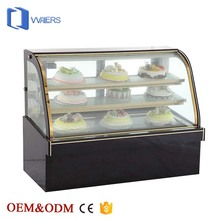 2017 Hot sell supermarket Cold Cake Display refrigerator Glass Fridge Showcase /cake display chiller