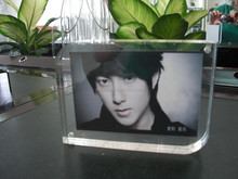 clear acrylic picture photo frame made in 10mm thick acrylic