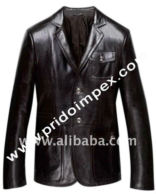 genuine leather/leather garments / Blazer-007