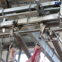 Galvanized pneumatic spreader for cattle slaughtering line