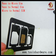 100% factory making originally 3 in 1 dual sim card adapter for iPhone for iPhone iPad SAMSUNG and HTC