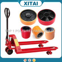 High Quality China Polyurethane hand pallet truck wheels material handling equipment