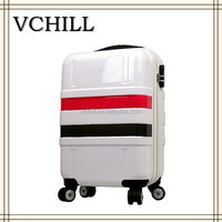 Hard shell travel suitcase abs/polycarbonate trolley luggage