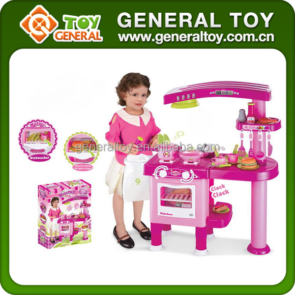 Light and music paly kitchen toy kitchen play set buy for Kitchen set video song