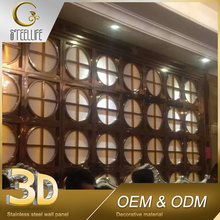 Wholesale Hollow Golden Metal Materials Building Construction Projects