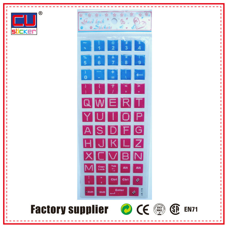 wholesale accept custom keyboard sticker for laptop skin, ps4 skin sticker