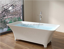 K-C36 new product 100% acrylic man made solid surface outdoor soaking tub