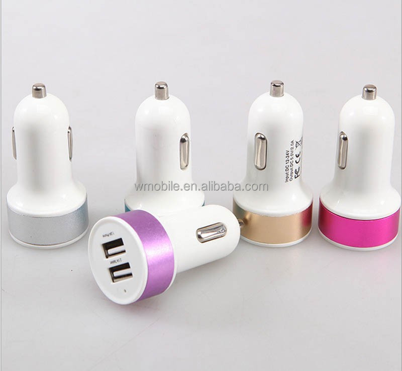 Shenzhen Supplier Car Mobile Accessories 5V 2.1A Car Charger Portable Custom USB Phone Charger