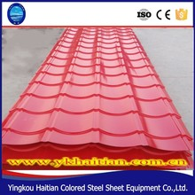 Waterproof steel sheet tile preprint red colour corrugated roof tile,price per sheet of zinc