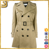 OEM factory price women's beige trench coat, wine red cotton trench coat
