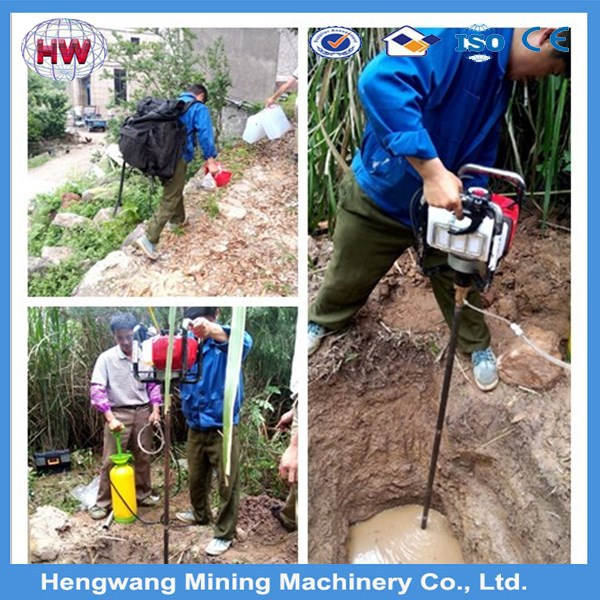 Fast speed long working life hand held rock drilling equipment/portable core drill/gold rock drill