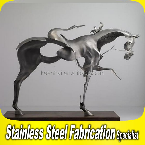 Stainless Steel Animal Horse Sculpture Life Size Horse Sculpture