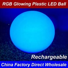 2017 Factory Wholesale Latest Design Water Floating Pool Rechargeable Led Light Round Ball best seller in EU 30 40 50 60CM