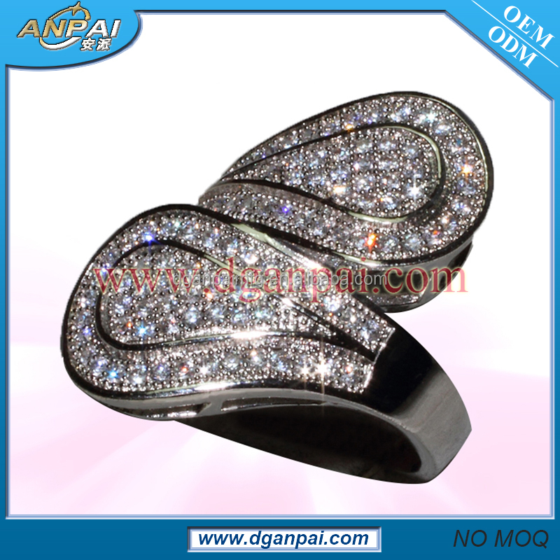 Latest design fashion sultan's gold sex ring sample full cz stones covering