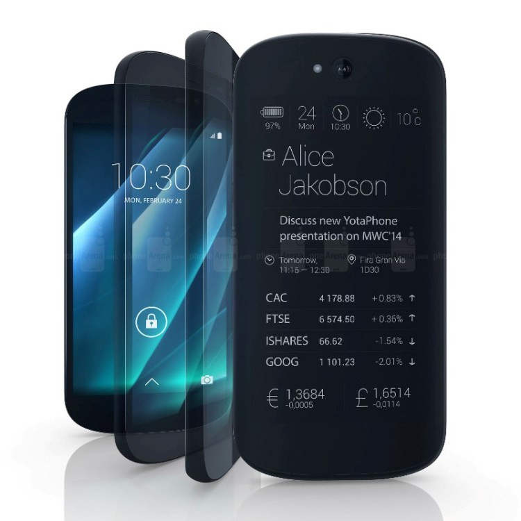 Yotaphone Qualcomm Dual Screen Mobile 5.0inch Yotaphone 32GB FHD NFC Ink Screen 2500mAh Yotaphone Qualcomm Dual Screen Mobile