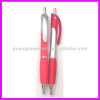 fashion plastic red blue black green ink ball pen