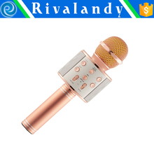 Wireless Karaoke Player Condenser Microphone with Mic bluetooth Speaker KTV Singing Record for Android IOS Phone Computer