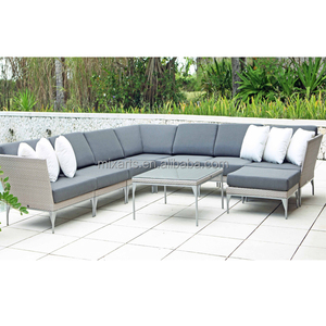 rattan wicker bamboo aluminum garden patio furniture outdoor modern luxury leisure treasure design sofa set