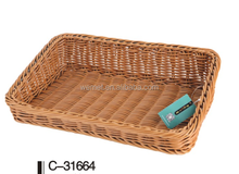 Woven bread basket / Plastic food basket