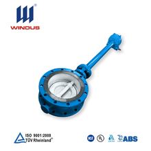 wear resistant long stem worm gear operated metal seat triple eccentric butterfly valve