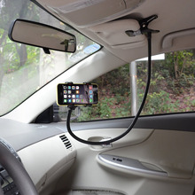 Rotating Mobile Phone Mount Clip-on Lazy Holder Long Arm Mount for Desktop Headboard Car Sun Visor Holder