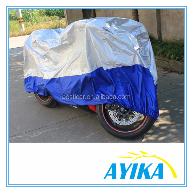 Quality OEM foldable waterproof polyester bike barn motorcycle cover