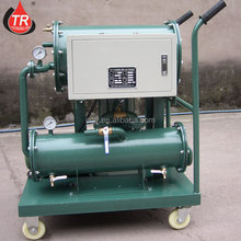 Mobile lube oil treatment machine for refinery plant