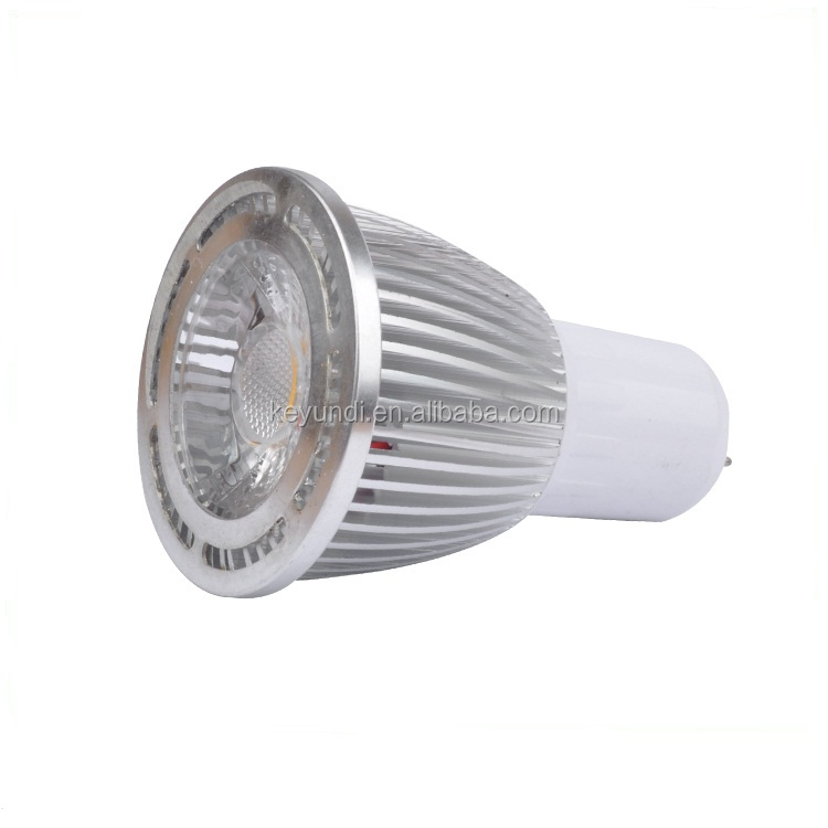 silver color 3w 5w 7w led spot light with GU10 GU5.3 MR16 E27