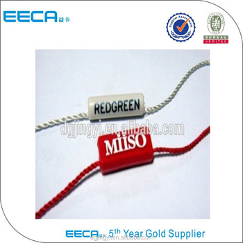 Garment accessories plastic hang tags for clothing/seal tags made in China