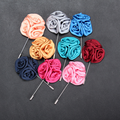 Decorative fabric flower large brooches for men's suit