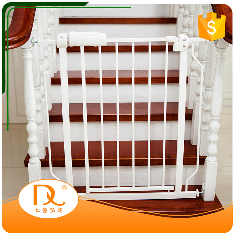 High quality pressure mounted metal expandable baby safety stair gate for home