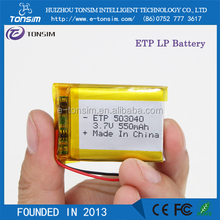 OEM&ODM 3.7v 550 mah Li Polymer Battery 503040 500mah With PCB Circuit Protection