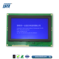 Stn blue yellow green background 240128 240x128 graphic lcd module