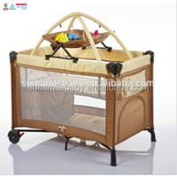 Metal,Plastic,quality ABS plastic and aluminum column Material and Crib Type ABS Cute Baby Cot