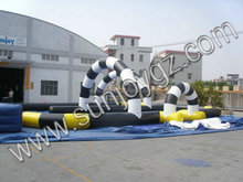 Hot selling products inflatable air racing track cheap racing go kart for sale