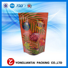 resealable sliver plastic aluminum foil ziplock bag packaging/plastic stand up zipper bags/reusable aluminum foil bag