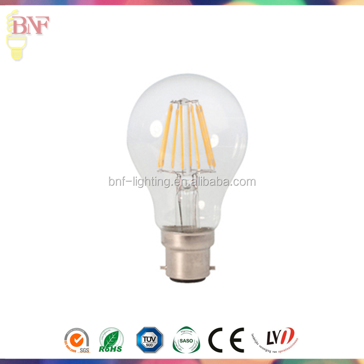 Low Cost Equivalent lighting 4w led filament candle bulb