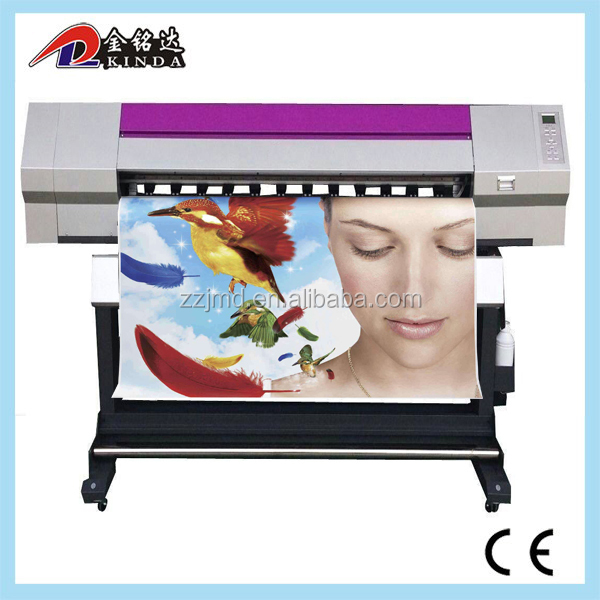 wit color digital Eco solvent printer 1.8m banner vinyl sticker printing machine used DX7 printheads