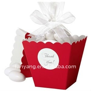 Red-Popcorn-Box-Wedding-Favor-candy-box CB-035 NEW ARRIVAL