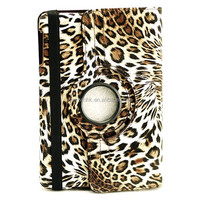 Wholesale Rotating 360 degree Leopard Skin Pattern case for ipad air 2