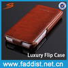 Flip cover leather case for iphone 5 case luxury design
