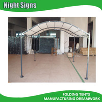 METAL OUTDOOR ROUND TOP CARPORT GAZEBO