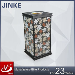 JINKE China Wholesale Classical Fancy Advertising Dustbin with Changable Posters
