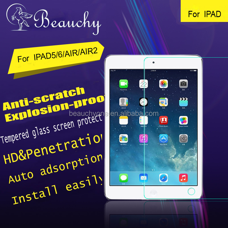 Free sample tempered glass screen protector for ipad 5/6/air/air 2 , wholesale new premium glass screen protector