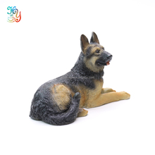 Large garden statues polyresin dog lying down figurines