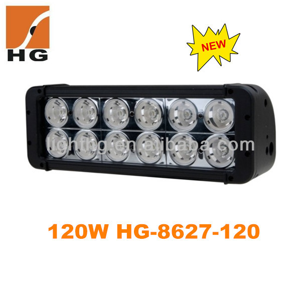 10.9inch Cree 120W Double row 12pcs*10W Rigid Led Light Bar Offroad Bar LED driving light bars,4x4 accessory HG-8627-120