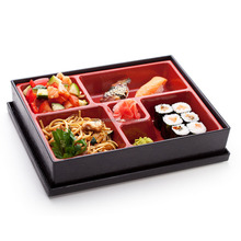 japanese beautiful grain wholesale handmade bento lunch box with dividers