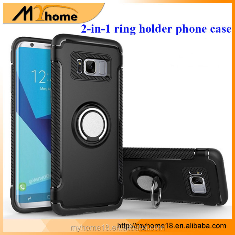 2017 new Creative ring armor cover mobile phone case with phone holder for S8, cell phone case for Note 8